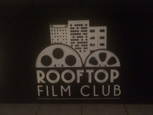 At Rooftop Film Club launch event