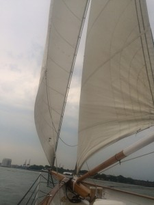 Another view of The Schooner America 2.0