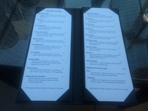 The Specialty Cocktails Menu