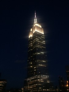 A view of the Empire State Building from Monarch Rooftop