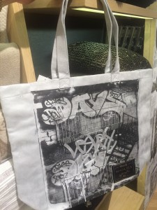My Madura tote bag with custom graffiti art by AVONE
