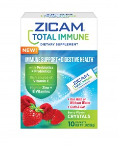 A closer look at Zicam Total Immune + Digestive Health Berry Crystals