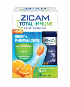 A closer look at Zicam Total Immune + Performance Support Orange Burst Melts