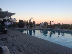 Sunset at the Southampton estate