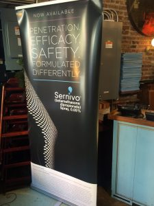 Sernivo banner at the event
