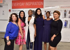 NEW YORK, NY - SEPTEMBER 27:  Lee Rousseau, Annie Walters, Katherine Schwarzenegger, DebbyThompson, Zynani Nakhid and Yastany Astacio attend the T.J.Maxx Road to Real Gallery Exhibit in NYC, spotlighting inspirational women from across the country on September 27, 2016 in New York City.  (Photo by Mike Coppola/Getty Images for TJ Maxx)