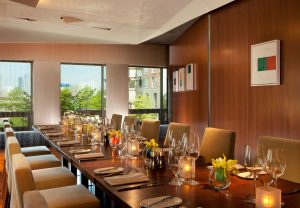 A private dining room at ATRIO (photo by: Conrad New York)